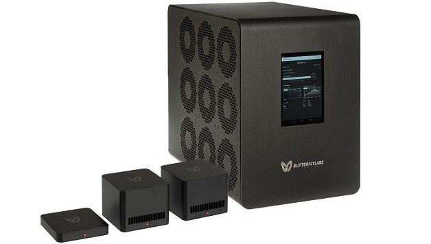 Mining rigs from Butterfly Labs, http://www.butterflylabs.com/