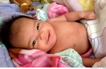 Baby girl born after fertility treatments paid for with bitcoins, photo courtesy of Dr. C. Terence Lee