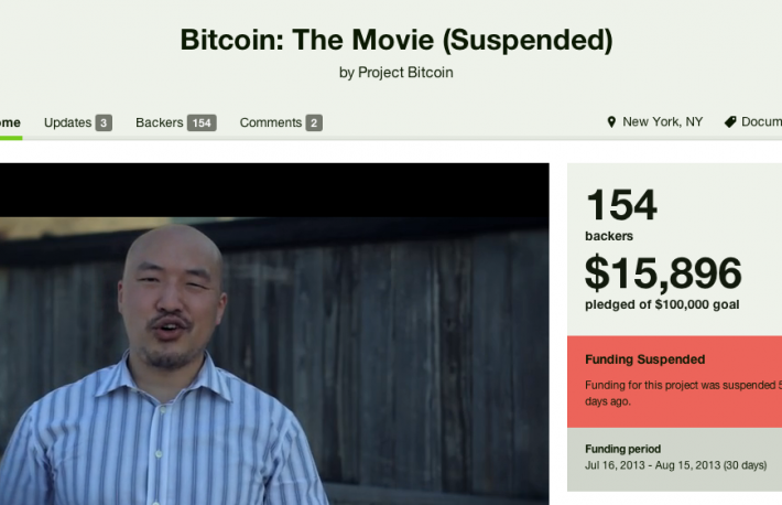 Bitcoin Movie Suspended