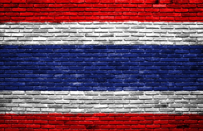 thai_flag_brick_wall