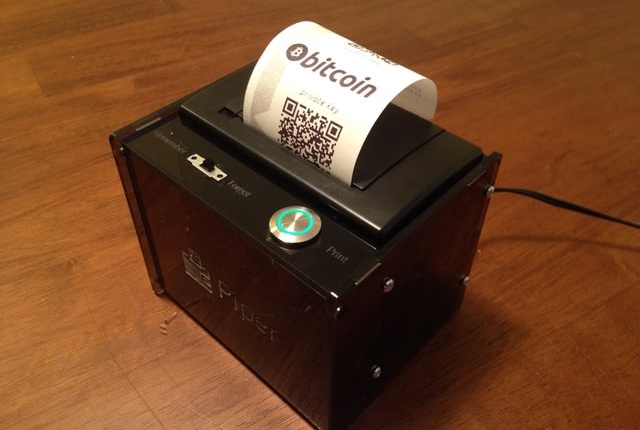 Print paper bitcoin and litecoin wallets with Piper