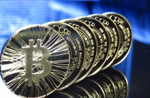 bitcoins-in-a-line