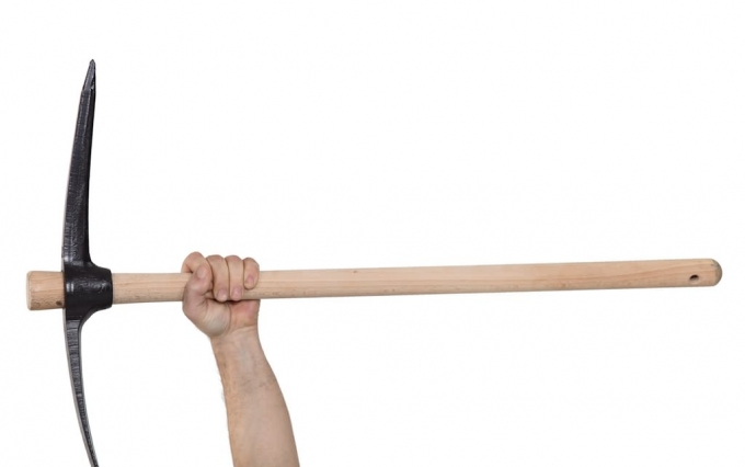 http://www.shutterstock.com/pic-105526382/stock-photo-a-hand-holding-a-pickaxe.html