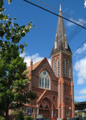 Outside view of the church in Goshen, NY. Source: The Chronicle