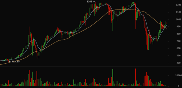 Thrity day four hour charting of bitcoin. Source: BitcoinWisdom
