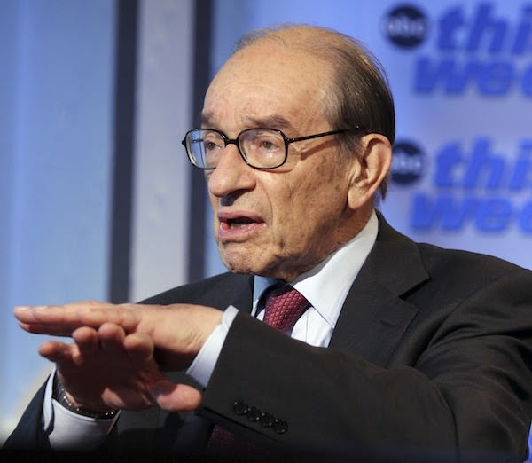 Alan Greenspan doing the dance from Blockbusters