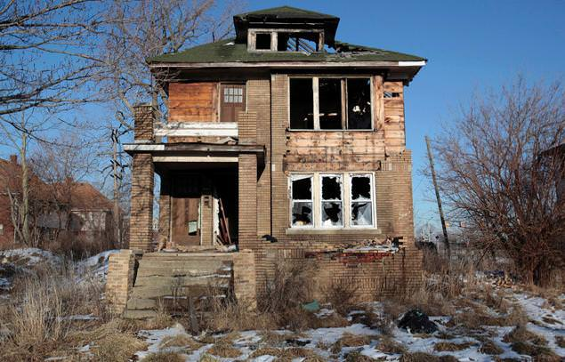 An abandoned house in Detroit.