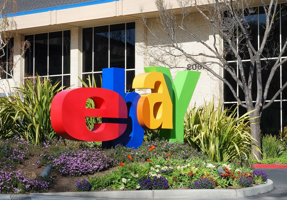 ebay, sign, logo, ebay headquarters, ebay california