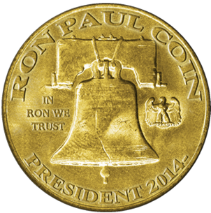 The creator of this altcoin is clear on his ambitions for Ron Paul. Source: RonPaulCoin.com