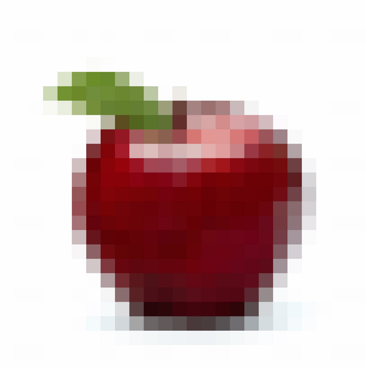Pixelated apple