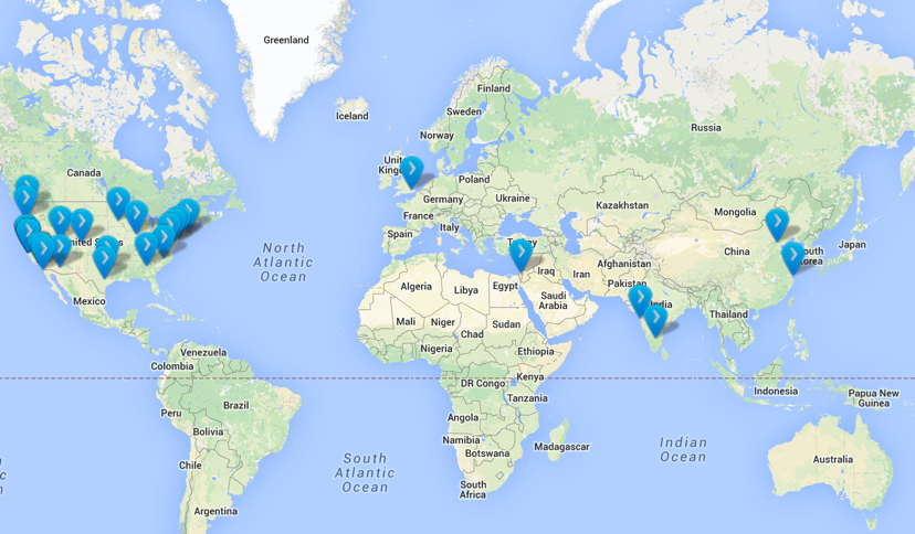 Silicon Valley Bank locations. Many do not realize SVB has a global reach. Source: Silicon Valley Bank