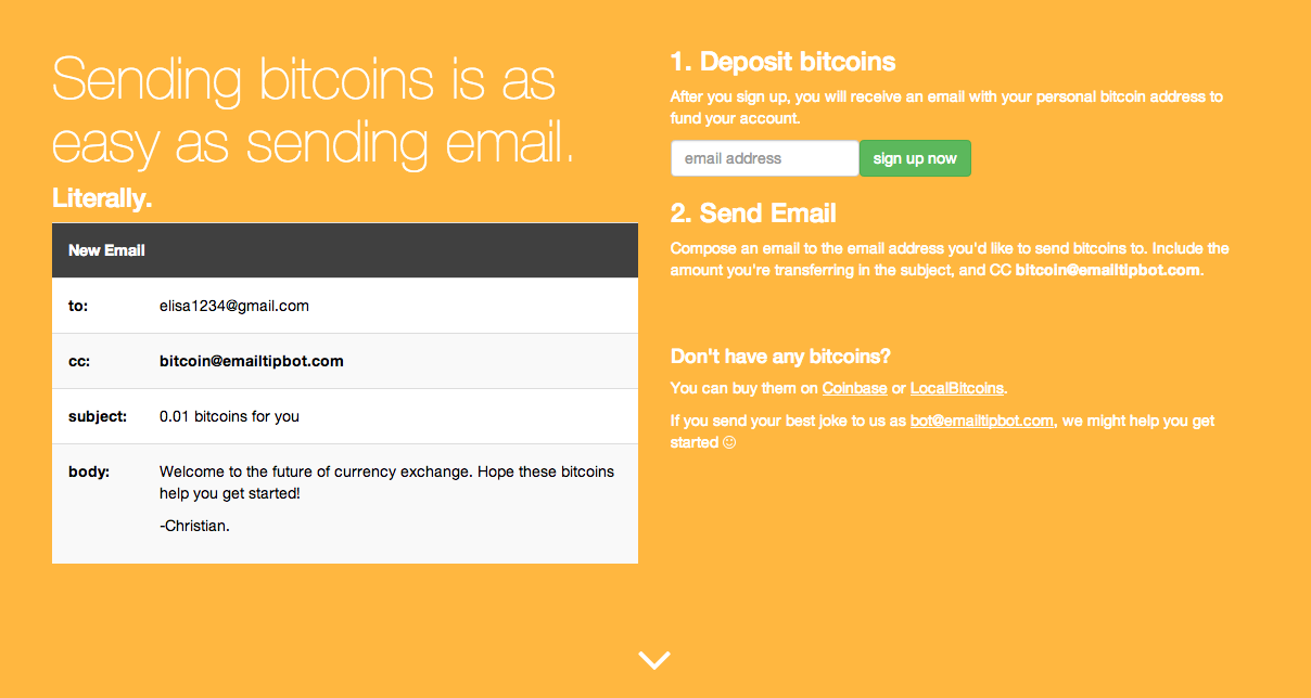 Send Bitcoins Over Email With the Tip Bot