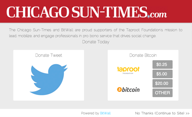 The Chicago Sun-Times BitWall paywall.