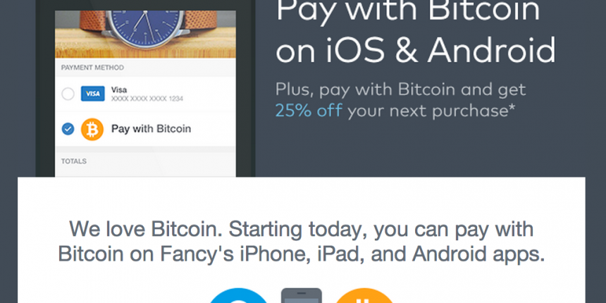 Bitcoin Payments Removed from Fancy's iOS App at Apple's Request
