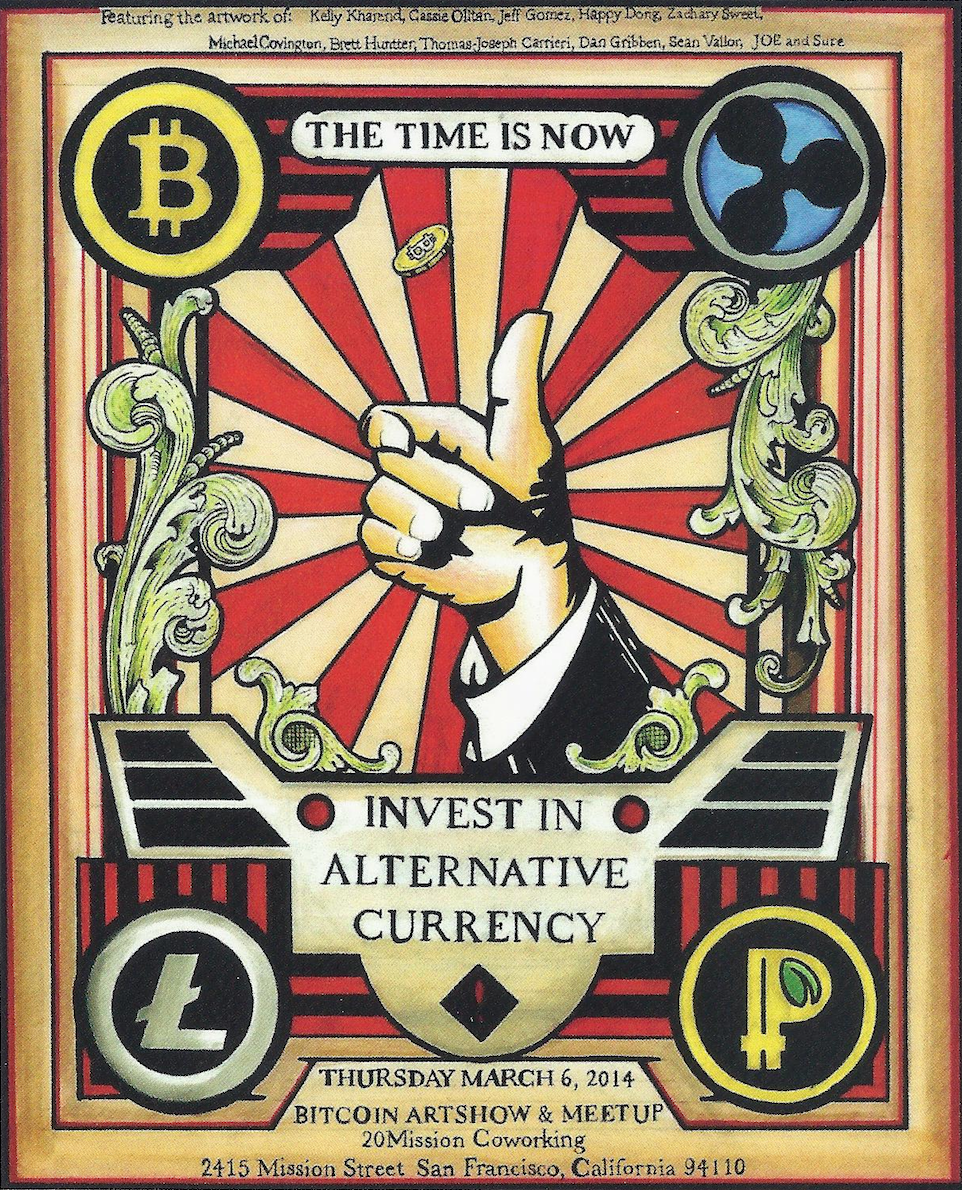 Poster for the Bitcoin Art Fair