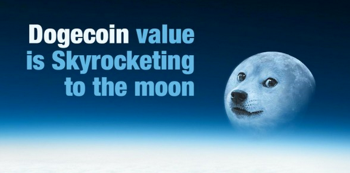 """To the moon"" is often a phrase used to describe the success of doge. Source: Mydogecoin"