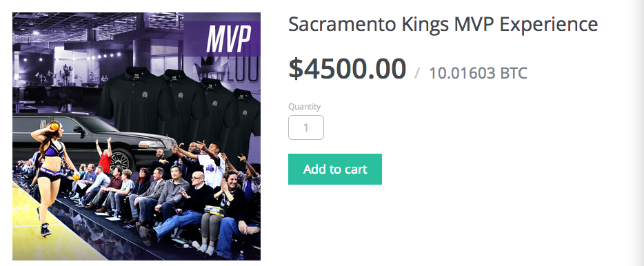Sacramento kings bitcoin store