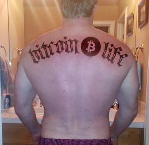 Bitcoin Life tattoo