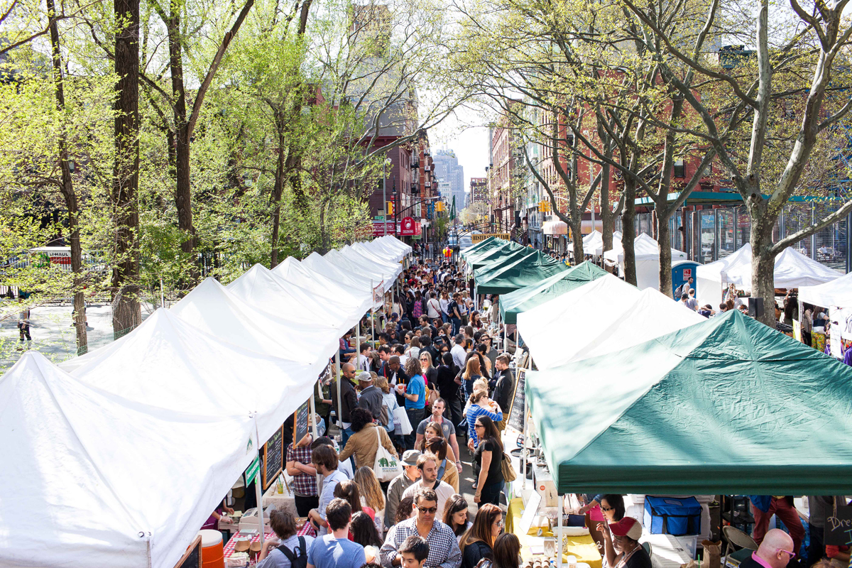 Crowds at the Hester Street Fair in New York City