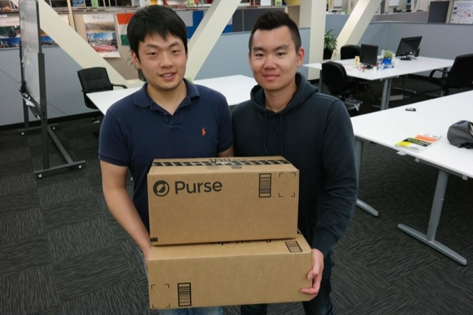 Purse.io founders Andrew Lee (L) and Kent Liu.