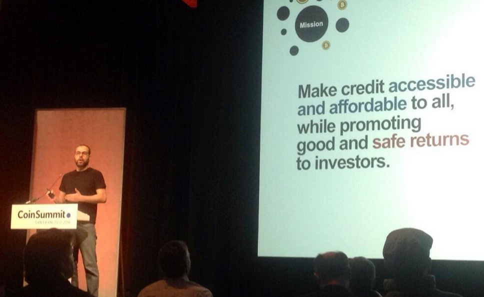 BTCJam CEO Celso Pitta talking about his startup. Source: Coinsummit