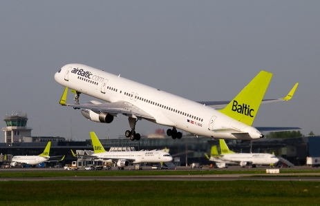 """AirBaltic Boeing 757-200 at RIX"" by Aleksandrs Samuilovs - Own work. Licensed under Creative Commons Attribution 3.0 via Wikimedia Commons - http://commons.wikimedia.org/wiki/File:AirBaltic_Boeing_757-200_at_RIX.jpg#mediaviewer/File:AirBaltic_Boeing_757-200_at_RIX.jpg"