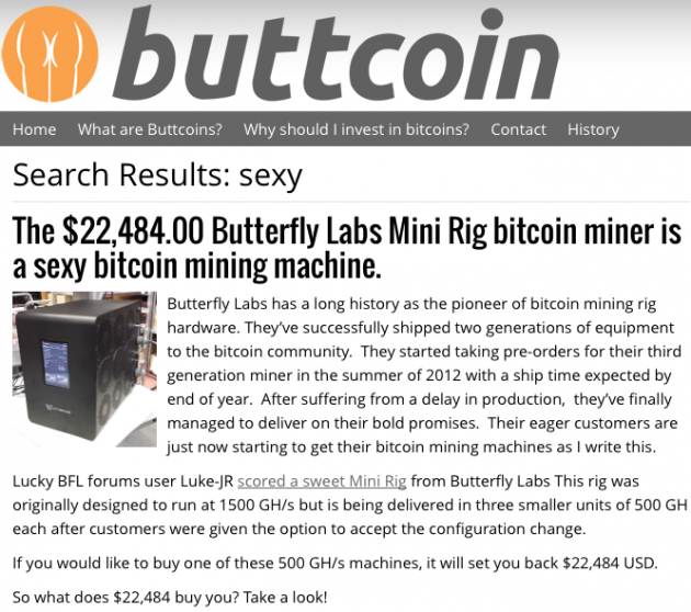 Buttcoin BFL article