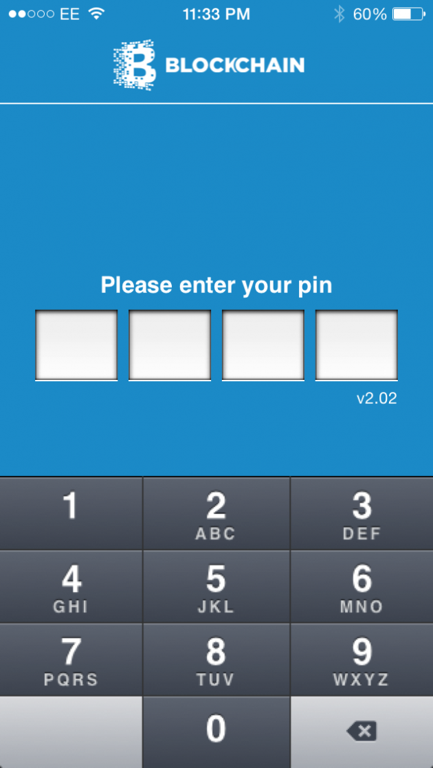 Blockchain iOS wallet login