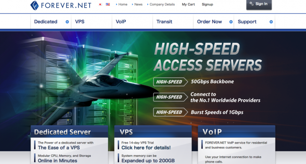 Forever.net page