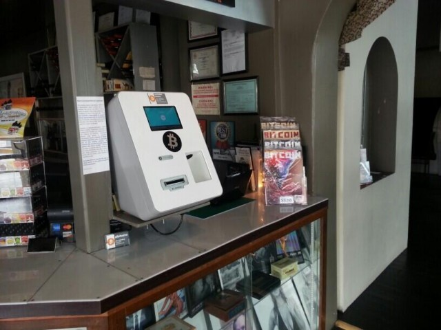 The first bitcoin ATM in the US is in a New Mexico cigar bar. Source; Ars Technica