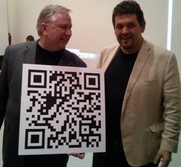 Texas politician Steve Stockman fundraising using a bticoin QR code. Source: CoinDesk