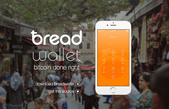 Breadwallet front page