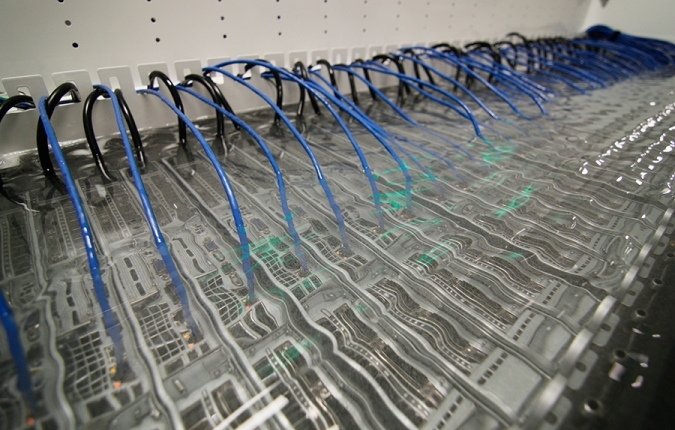 Servers in GRC's oil-based immersion system