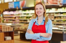 http://www.shutterstock.com/pic-202514185/stock-photo-young-happy-saleswoman-with-red-apron-in-a-supermarket.html?src=1v4yA8_Q4ORCETyNYjYH7g-2-92