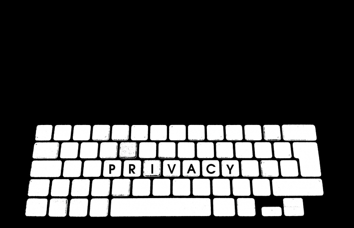 Illustration of computer keyboard with keys labelled 'Privacy'. From: https://www.flickr.com/photos/g4ll4is/