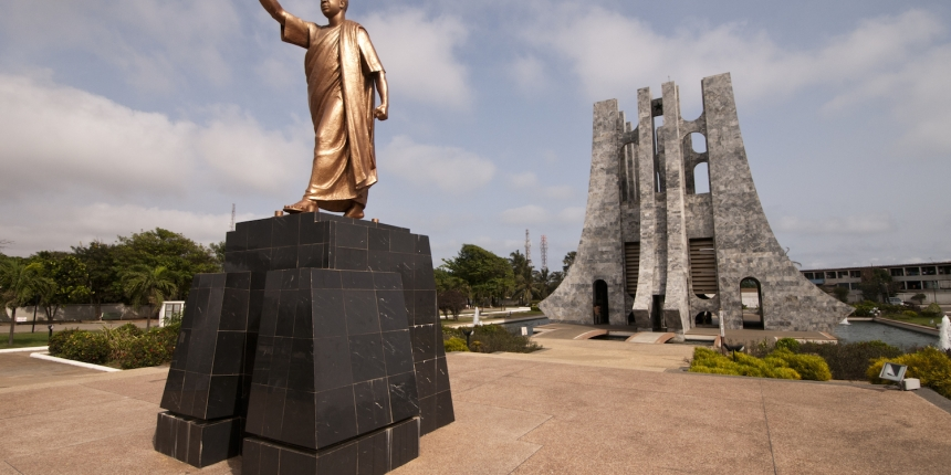 Accra memorial to the founding father of Ghana.