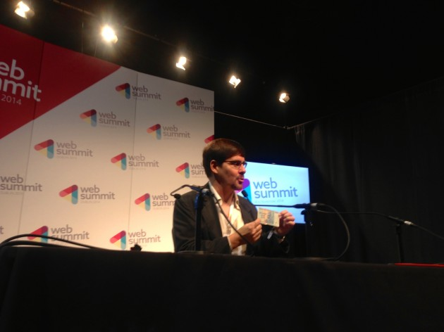 Gavin Andresen at Web Summit Q&A. Pic by Wong Joon Ian