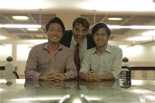 Tim Draper with CoinHako founders Yusho Liu and Gerry Eng