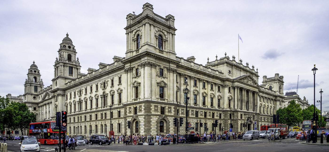 Picture of UK Treasury building.