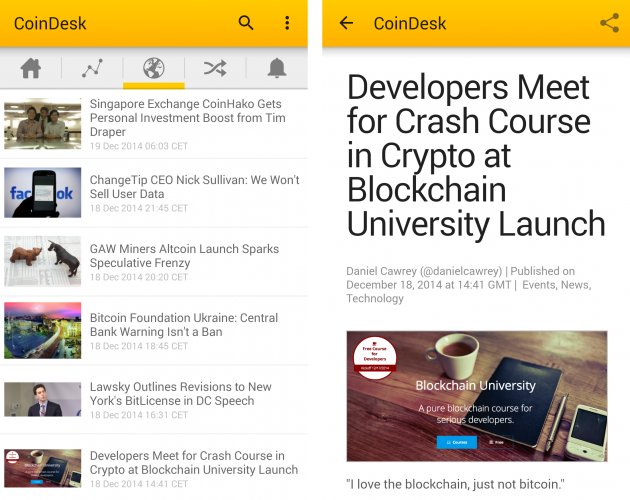CoinDesk app news images