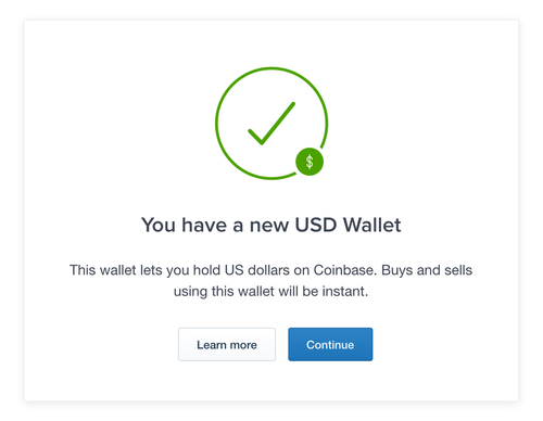 Coinbase USD wallet