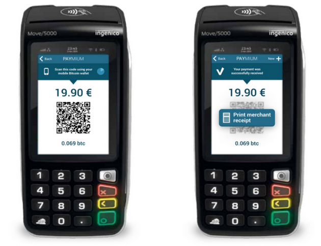 Paymium app on Ingenico POS terminal