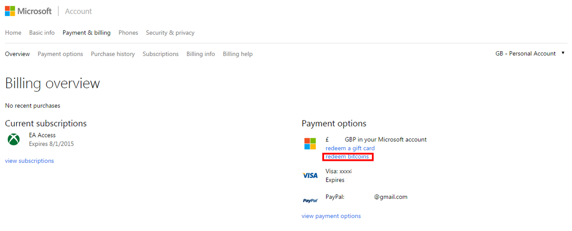 Microsoft: Bitcoin Payments Not Available in Europe