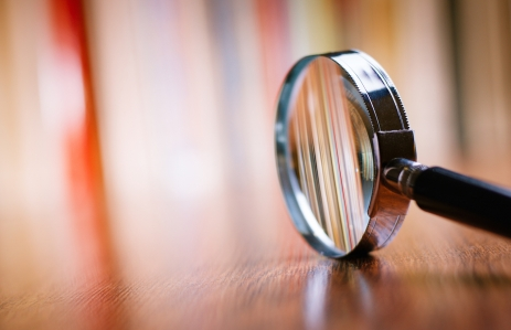 Shutterstock: http://www.shutterstock.com/pic-231292906/stock-photo-close-up-single-magnifying-glass-with-black-handle-leaning-on-the-wooden-table-at-the-office.html