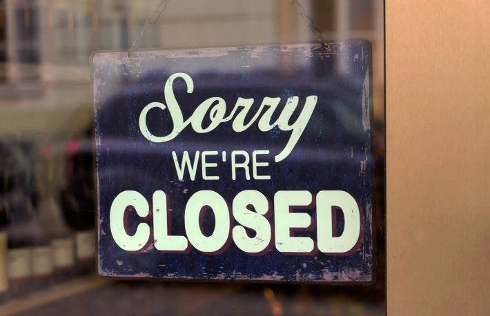 Closed store sign