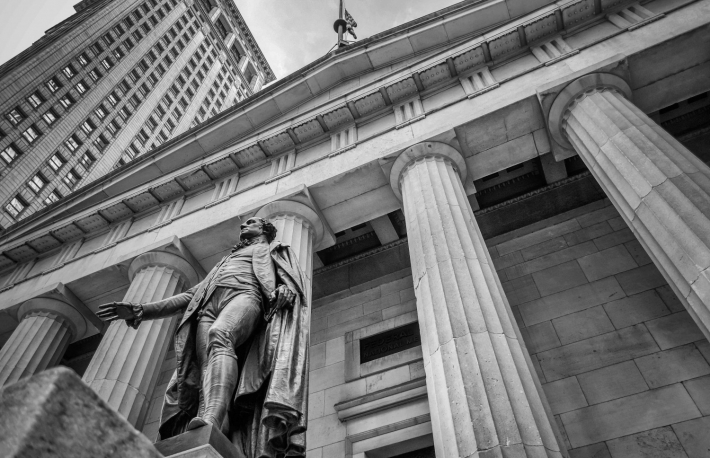 http://www.shutterstock.com/pic-150880883/stock-photo-facade-of-the-federal-hall-with-washington-statue-on-the-front-manhattan-new-york-city.html