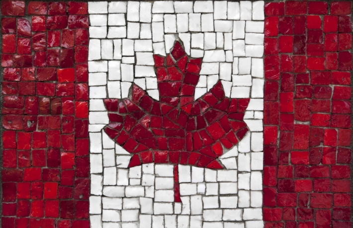 http://www.shutterstock.com/pic-157614251/stock-photo-old-mosaic-flag-of-canada-close-up.html