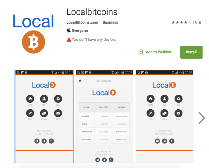 Fake LocalBitcoins Android App is Phishing For Bitcoins