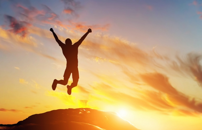 http://www.shutterstock.com/pic-203291770/stock-photo-happy-man-jumping-for-joy-on-the-peak-of-the-mountain-cliff-at-sunset-success-winner-happiness.html?src=Z7Yx614rkZD3eY_NRjFGwQ-2-46