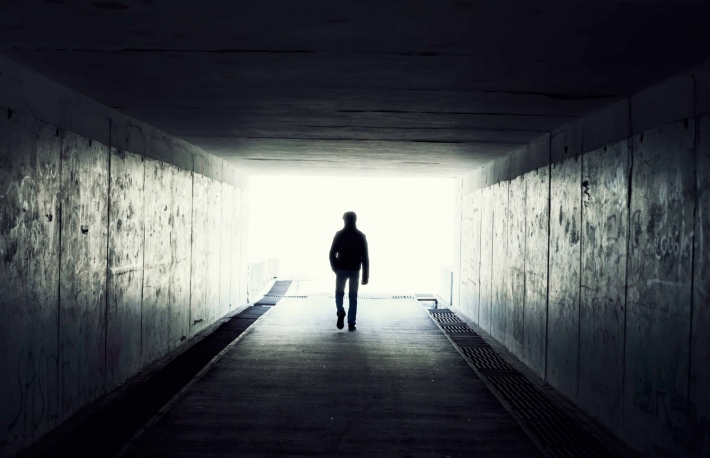 http://www.shutterstock.com/pic-73189654/stock-photo-silhouette-in-a-subway-tunnel-light-at-end-of-tunnel.html